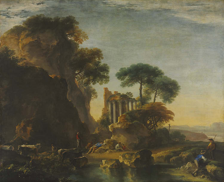 Ruins in a Rocky Landscape