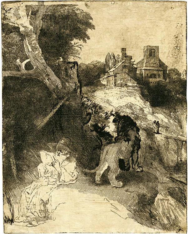 St. Jerome Reading in an Italian Landscape