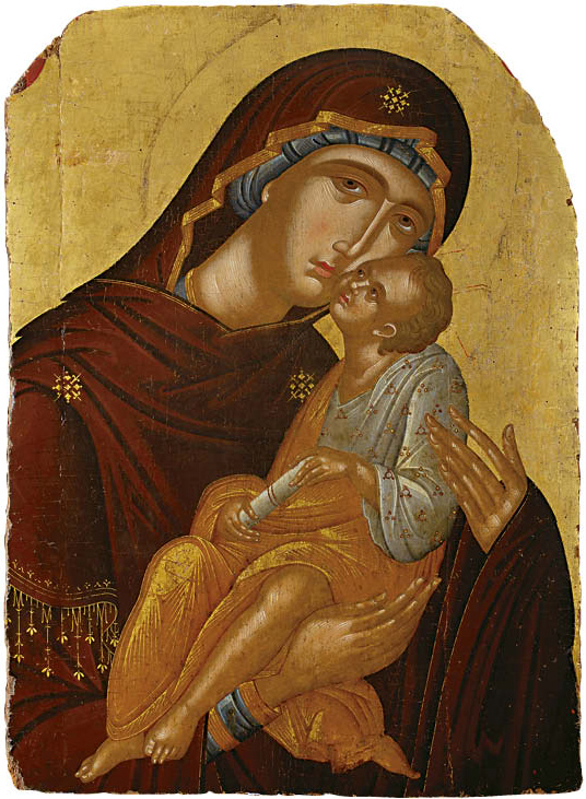 Icon of the Mother of God and the Infant Christ (Virgin Eleousa)