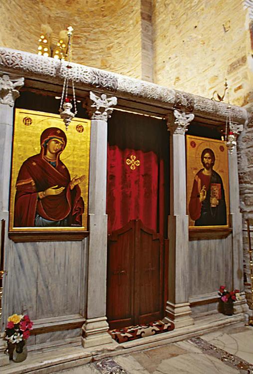 Templon in the Church of the Theotokos, Hosios Loukas, Greece