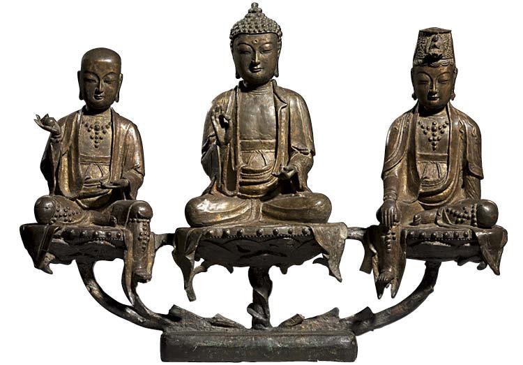 Amita (Amitabha) Triad