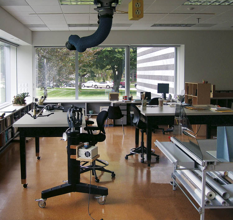The new paper lab is situated at a northeast corner.