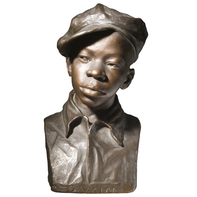 Augusta Savage (American, 1892–1962). Gamin, about 1929–30. Handpainted plaster, 44.5 x 24.2 x 20.4 cm. Purchase from the J. H. Wade Fund 2003.40