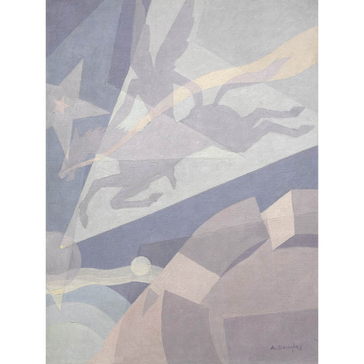 Aaron Douglas (American, 1899–1979). Go Down Death, 1934. Oil on Masonite, 121.9 x 91.5 cm. John L. Severance Fund and Gift of Prof. and Mrs. David C. Driskell 2005.181