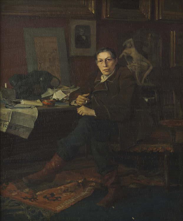 Albert Wolff in His Study