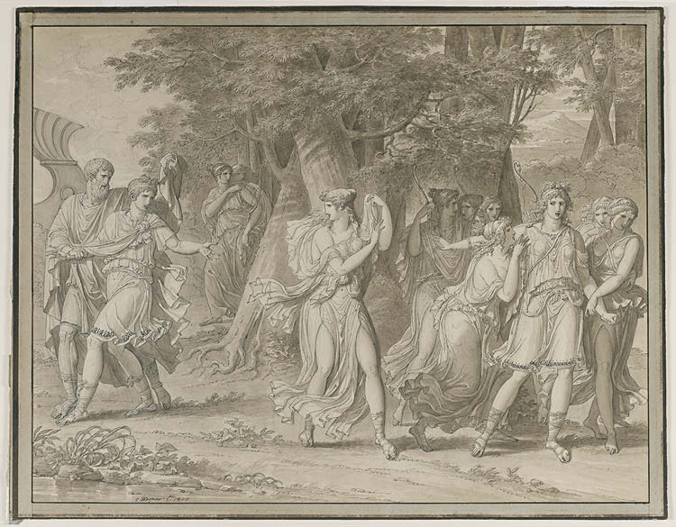 Telemachus, Urged by Mentor, Leaving the Island of  Calypso