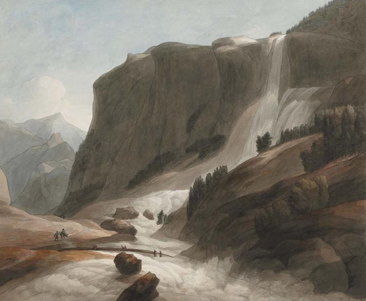 Waterfall between Chiavenna and Mount Splügen
