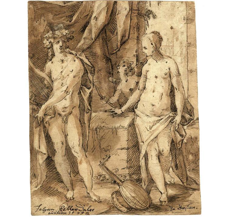 Apollo with Erato and Cupid