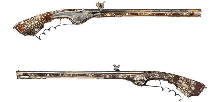 Pair of Wheel-lock Petronel Pistols