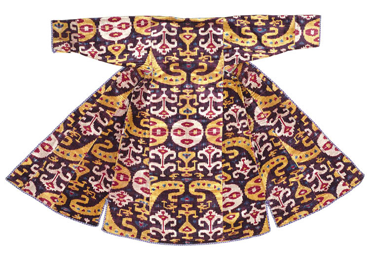 Silk Ikat-Velvet Woman's Robe