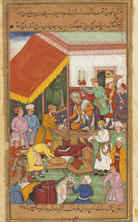 Timur Distributes Gifts from His Grandson, the Prince of Multan