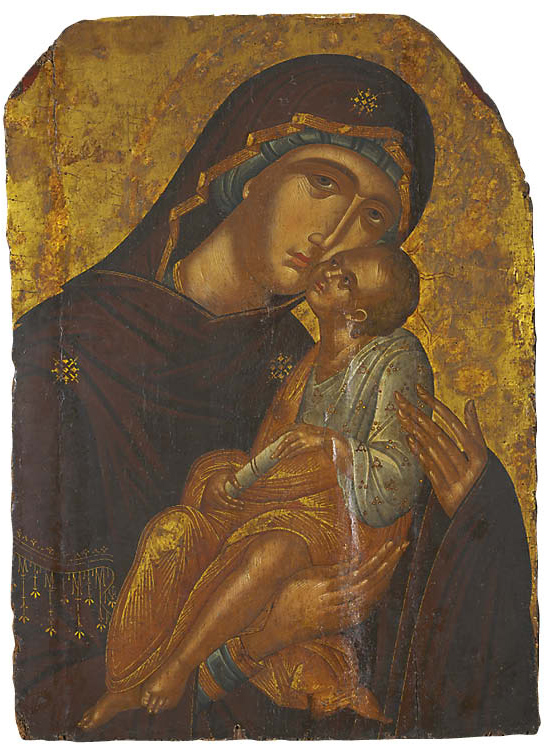 Icon of the Mother of God and Infant Christ (Virgin Eleousa)