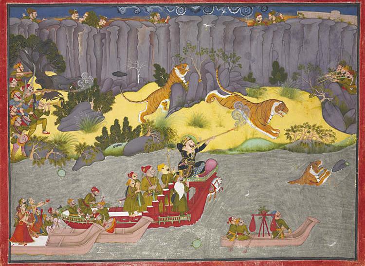Tiger Hunt of Raja Ram Singh II