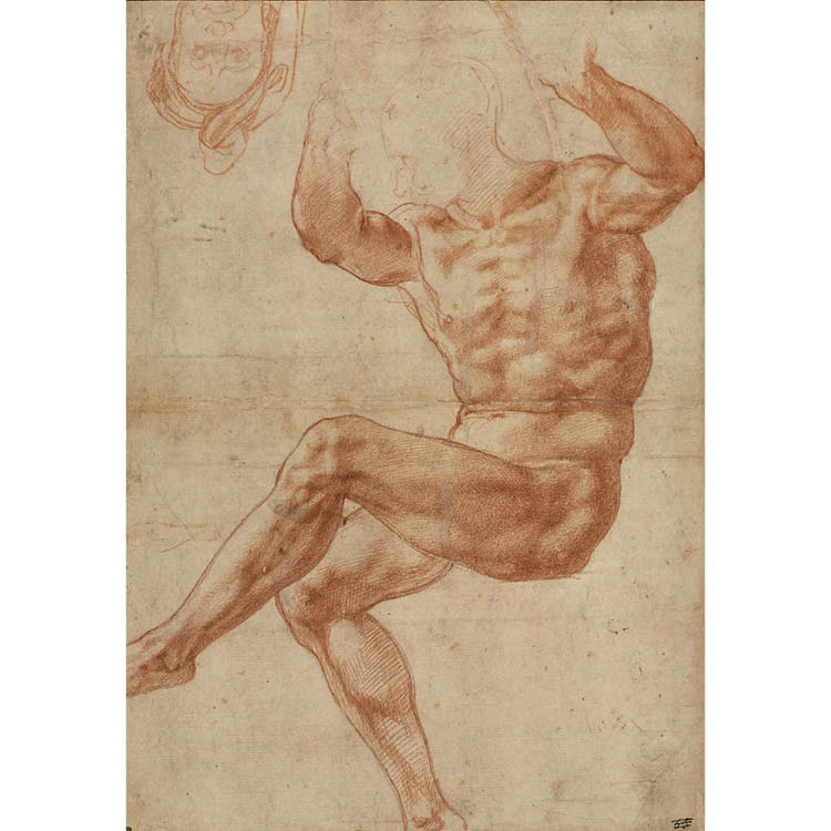Study for the Nude Youth over the Prophet Daniel