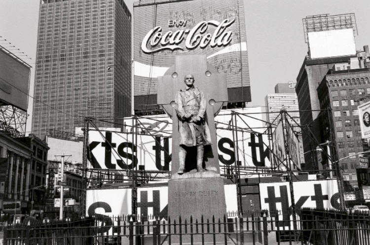 Between roughly 1971 and 1975, Friedlander traveled through much of the United States recording the ubiquitous public monuments that exist in all manner of forms, settings, and environments. The journey produced some 3,000 negatives, winnowed down to more