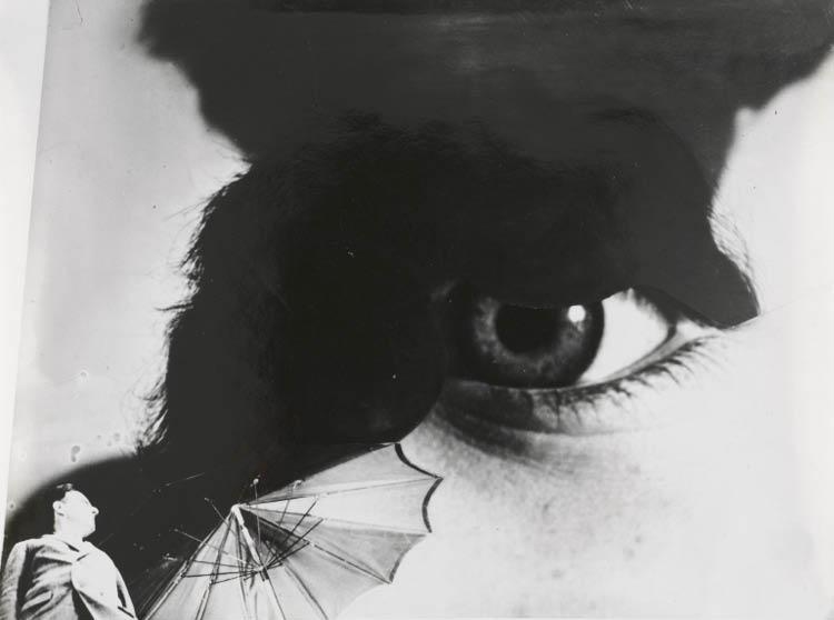 Anton Stankowski (German, 1906–1998). Eye, 1927. Gelatin silver print, montage; image 10.9 x 14.5 cm, mount 35.6 x 31.9 cm. John L. Severance Fund 2007.122