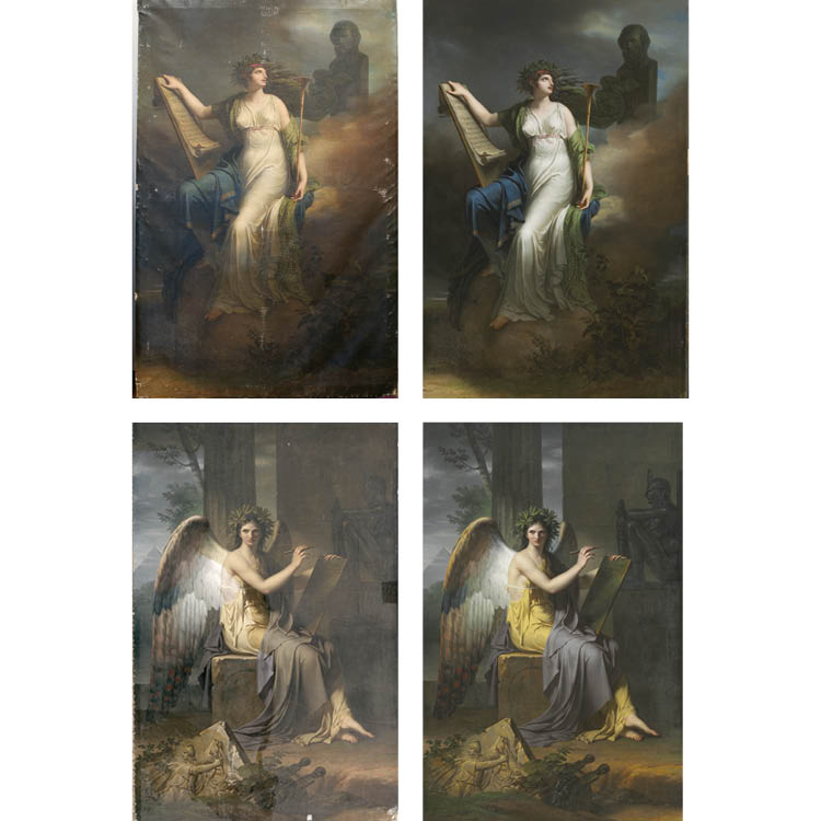 Calliope, Muse of Epic Poetry, 1800 (2003.6.2) Clio, Muse of History, 1798 (2003.4)