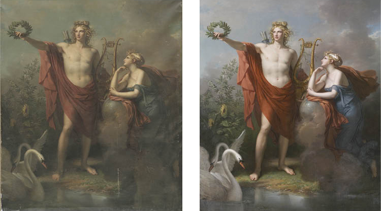 Apollo, God of Light, Eloquence, and Fine Arts with Urania, Muse of Astronomy, 1798 (2003.5) All John L. Severance and Greta Milliken Purchase Fund