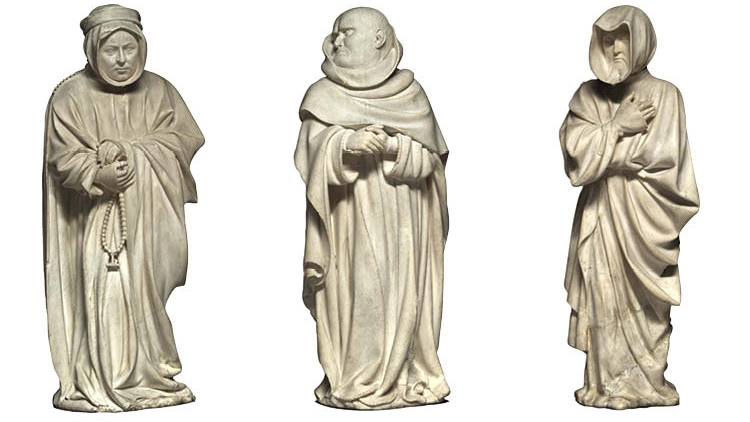 Three Mourners from the Tomb of Philip the Bold, Duke of Burgundy