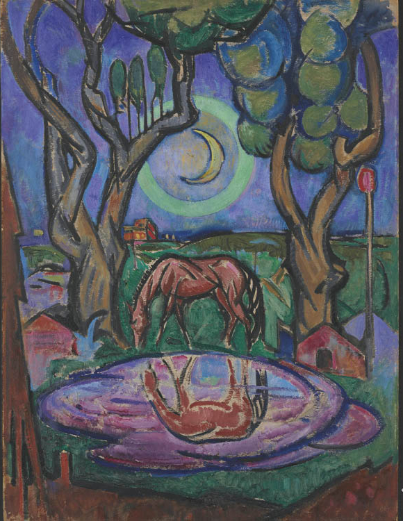 William Sommer (American, 1867–1949). The Pool, c. 1918. Oil on panel. Silver Jubilee Treasure Fund 1945.46