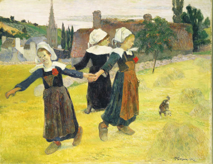 Paul Gauguin (French, 1848–1903). Breton Girls Dancing, Pont-Aven (La Ronde des Petites Bretonnes), 1888. Oil on canvas; 73 x 92.7 cm. National Gallery of Art, Washington, Collection of Mr. and Mrs. Paul Mellon 1983.1.19. Image courtesy of the Board of Tr