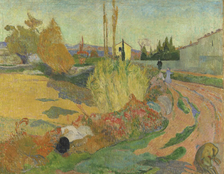 Paul Gauguin (French, 1848–1903). Landscape from Arles (Près d'Arles), 1888. Oil on canvas; 72.5 x 92 cm. 
