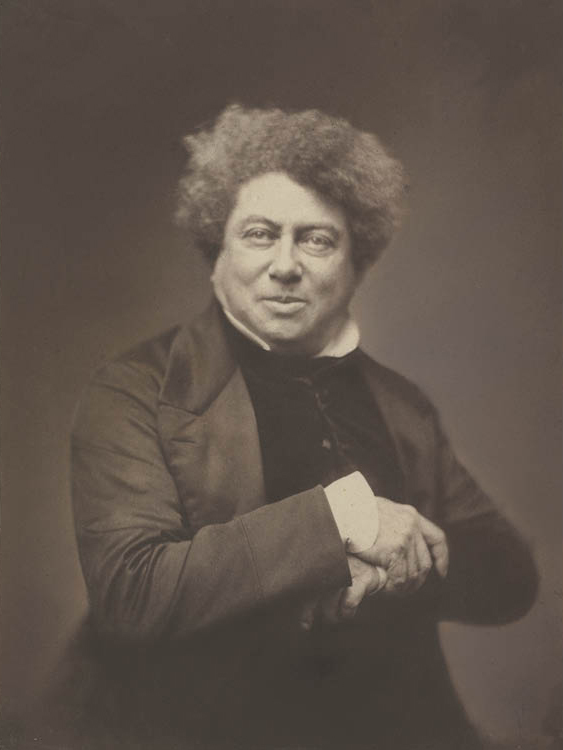 Nadar (French, 1820–1910). Alexandre Dumas Père (1802–1870), 1855. Salt print from wet collodion negative, 23.8 x 17.8 cm. John L. Severance Fund 1983.198
