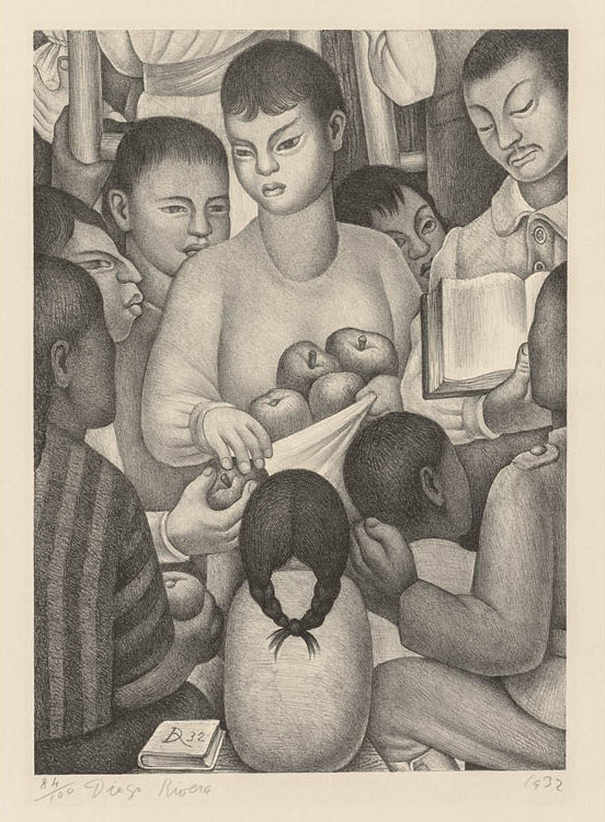The Fruits of Labor 1932. Diego Rivera (Mexican, 1886–1957). Lithograph; sheet: 54.6 x 38.5 cm. Gift of the Print Club of Cleveland, 1934.165. © Artists Rights Society (ARS), New York