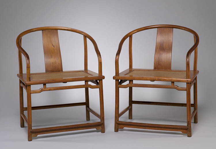 Pair of Armchairs: Lohan Type 1600s. China, Ming dynasty (1368–1644). Rosewood; each: 86 x 63.5 x 47 cm. The Norweb Collection, 1955.40
