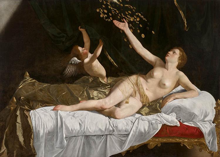 Danaë c. 1623. Orazio  Gentileschi (Italian, 1563–1639). Oil on canvas; 162 x 228.5 cm. Leonard C. Hanna Jr. Fund, 1971.101. After conservation