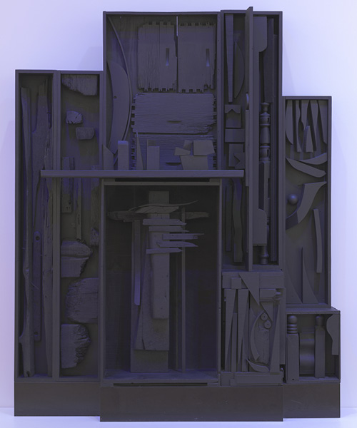 Sky Cathedral-Moon Garden Wall, 1956–60. Louise Nevelson. The Cleveland Museum of Art, 1974.76. © Estate of Louise Nevelson / Artists Rights Society (ARS), NY