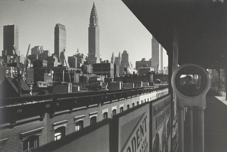 New York, the Elevated, and Me 1936. Ilse Bing. Gelatin silver print; 18.8 x 28.2 cm. John L. Severance Fund, 1989.386. © Estate of Ilse Bing