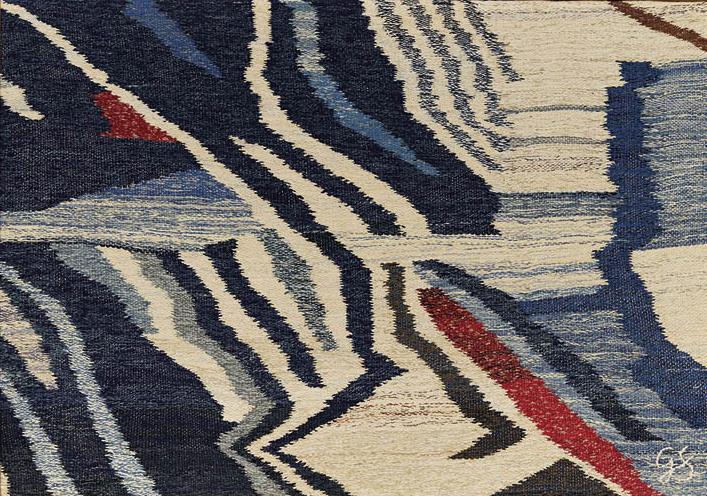 Untitled c. 1988–93. Gérard Santoni (Ivorian, 1943–2008). Cotton, bark cloth, and dye; 89.5 x 125.7 cm. Gift of Robert and Elizabeth Soppelsa, in memory of the artist, 2018.307.  © Gérard Santoni