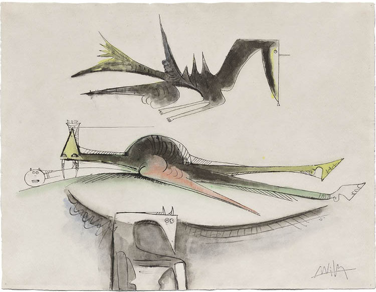 Untitled 1947. Wifredo Lam (Cuban, 1902–1982). Watercolor and ink; sheet: 48.9 x 62 cm. Jo Hershey Selden Fund, 2019.174. © Artists Rights Society (ARS), New York