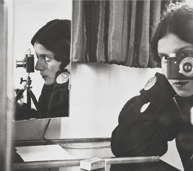Self-Portrait with Mirrors 1931, printed 1980s. Ilse Bing (American, 1899–1998). Gelatin silver print; 26.7 x 30.5 cm. The A. W. Ellenberger Sr. Endowment Fund, 2019.177.  © Estate of Ilse Bing