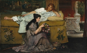 Glaucus and Nydia, 1867; reworked 1870. Lawrence Alma-Tadema (British 1838—1912). Oil on wood; 39 x 64.3 cm. The Cleveland Museum of Art, Gift of Mr. and Mrs. Noah L. Butkin 1977.128