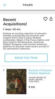 ArtLens App screenshot - Recent Acquisitions tour