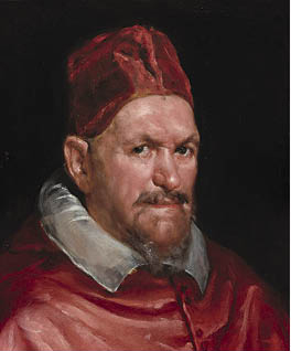 Pope Innocent X c. 1650. Circle of Diego Velázquez. Oil on canvas; 49.2 x 41.3 cm. National Gallery of Art, Washington, DC, Andrew W. Mellon Collection, 1937.1.80