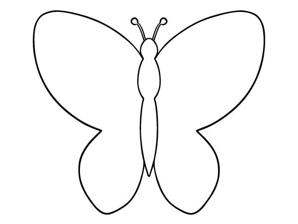 Collection Connections: Pattern Butterfly Template