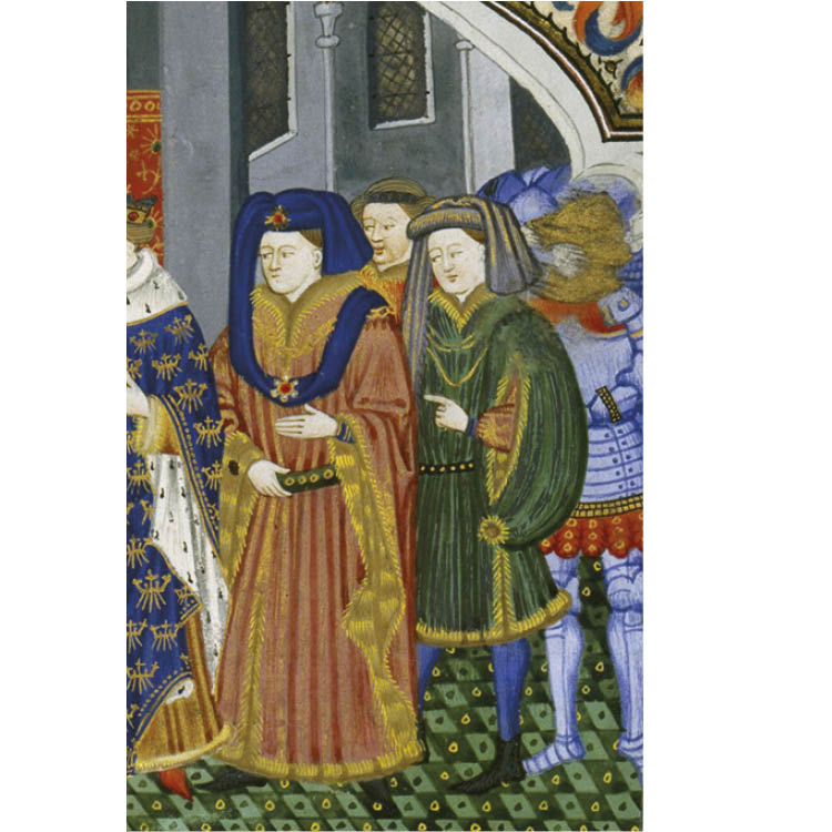 Le Regime des Princes (detail), fol. 7, c. 1450. Bibliothèque Nationale de France, Fr. 126