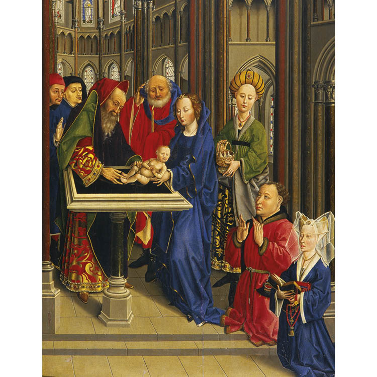 The Presentation at the Temple (detail), c. 1440–50. Burgundy. Oil on wood. Musée des Beaux Arts, Dijon, acc. no. 3765