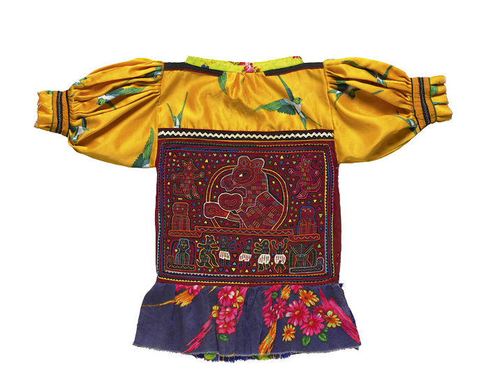 Matilda Mola after 1978. Republic of Panamá, Gunayala Comarca, Guna people. Cotton, synthetic fiber; reverse appliqué, appliqué, embroidery; 62.2 x 89.5 cm. The Cleveland Museum of Art, Gift of Jeanne Marie Stumpf, 2010.799