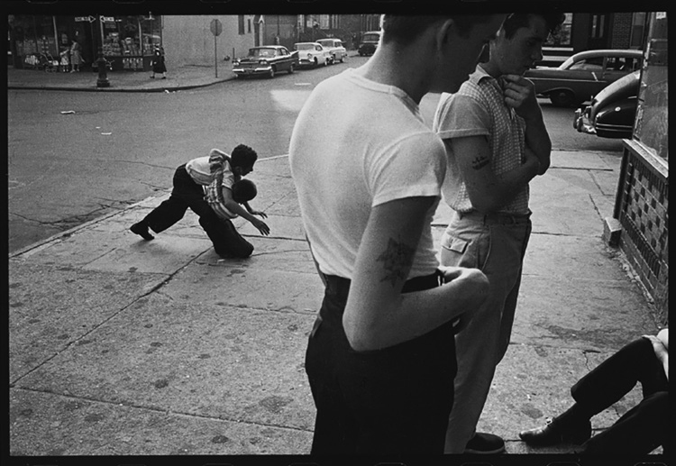 Untitled from Brooklyn Gang 1959. Bruce Davidson.  Gelatin silver print; paper: 27.9 x 35.6 cm. Gift of an anonymous donor, 2018.679. © Bruce Davidson / Magnum Photos