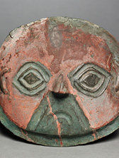 Funerary Mask, 1200–1500. Peru, South Coast, Chicha-Ica Valley area. The Norweb Collection, 1957.396