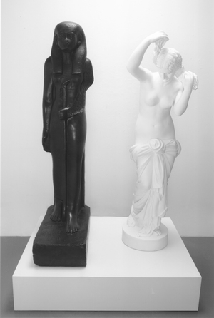 The Mete of the Muse, 2004–7. Bronze with black patina and bronze with white paint; overall: 160 x 106.7 x 66.4 cm. Edition of 5 + 2 APs. © Fred Wilson, courtesy of Pace Gallery. Photo by: Kerry Ryan McFate,/Courtesy Pace Gallery