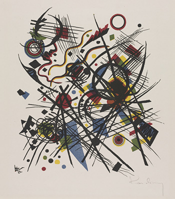 Kleine Welten: Abstract Composition with Checkered Plane, date unknown. Vassily Kandinsky. 1956.231. © Artists Rights Society (ARS), New York / ADAGP, Paris
