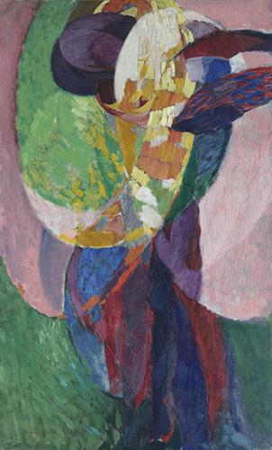 Amorpha: Fugue in Two Colors II, 1910–11. Frantisek Kupka. 1969.51. © Artists Rights Society (ARS), New York / ADAGP, Paris