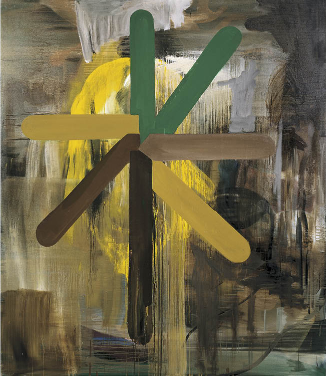 Untitled 1989. Oil on canvas; 240 x 200 cm. Private collection. © Albert Oehlen