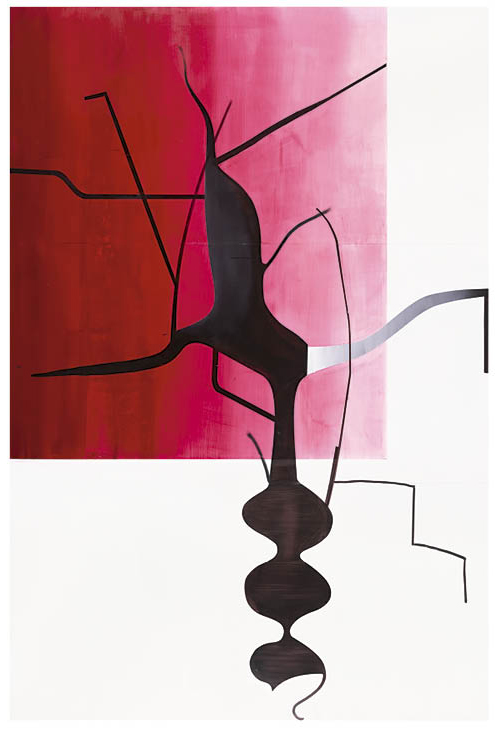 Untitled (Baum 2) 2014. Oil on Dibond; 375 x 250 cm. Collection of Larry Gagosian. © Albert Oehlen. Photo: Luther Schnepf