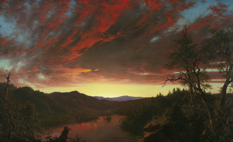 Frederic Edwin Church (American, 1826–1900). Twilight in the Wilderness, 1860. Oil on canvas. Mr. and Mrs. William Marlatt Fund 1965.233